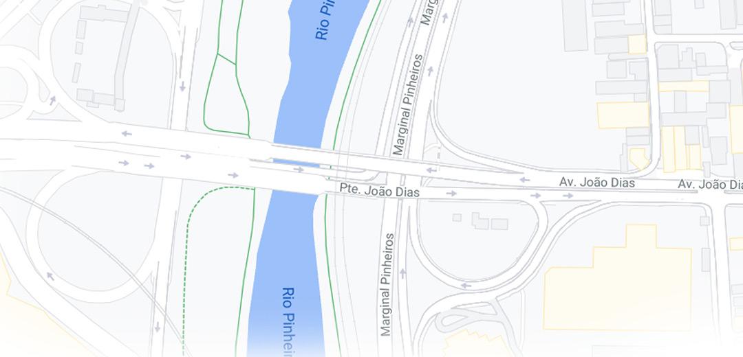 Acesso pela Av. João Dias / Ponte João Dias